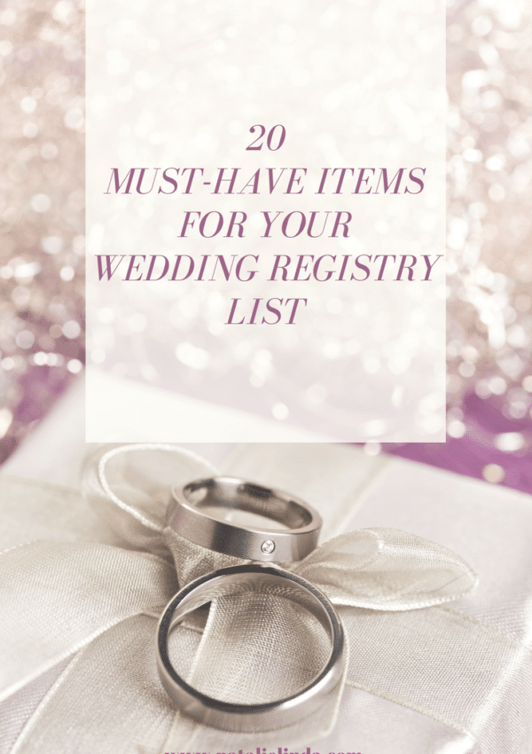 These list of wedding registry items is so helpful for the bride-to-be!