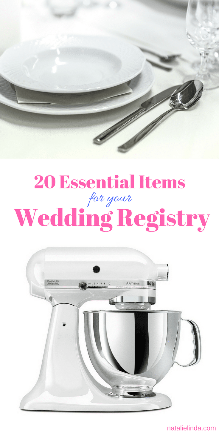 You'll want to add these must-have items to your wedding registry list!