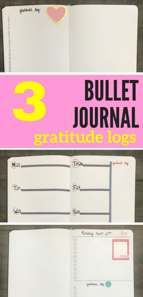 Learn how to incorporate a gratitude into your monthly, weekly, and daily bullet journal layouts! This is a must-try bullet journal idea!