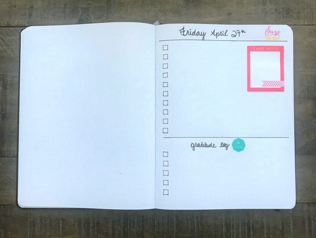 This daily gratitude log is perfect for any bullet journal!