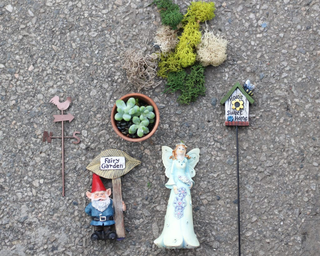 Choosing pretty fairy garden accessories for your fairy garden!